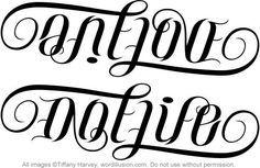 One Love One Life Ambigram Couple Tattoo Ambigram Tattoo