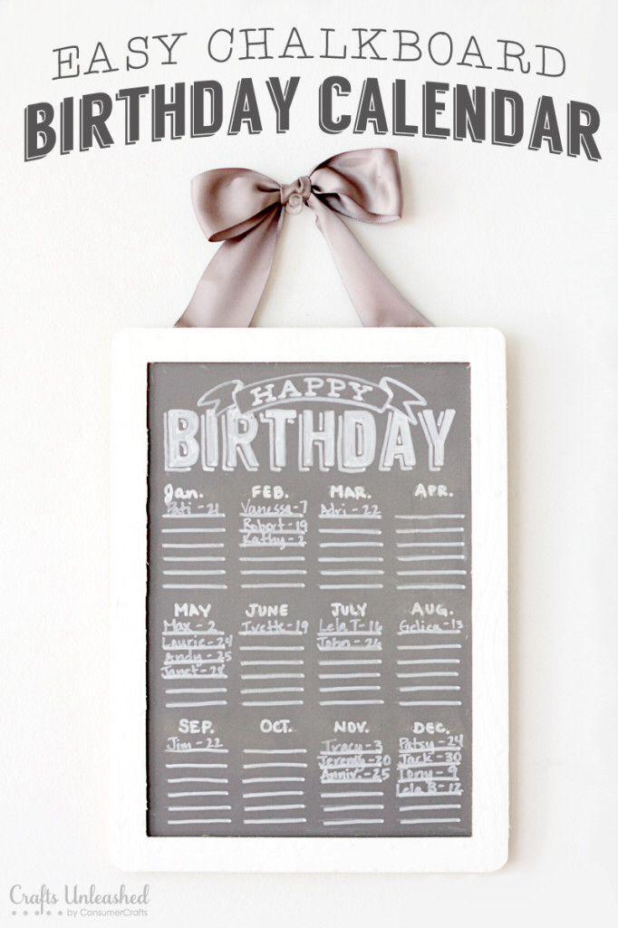 Calendar Ideas Y : Verjaardagskalender d i y pinterest birthday