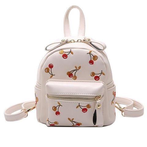 dd9f04bea32 2017 Mini Backpacks Cute Lovely Fruit Embroidery Backpack Cherry ...