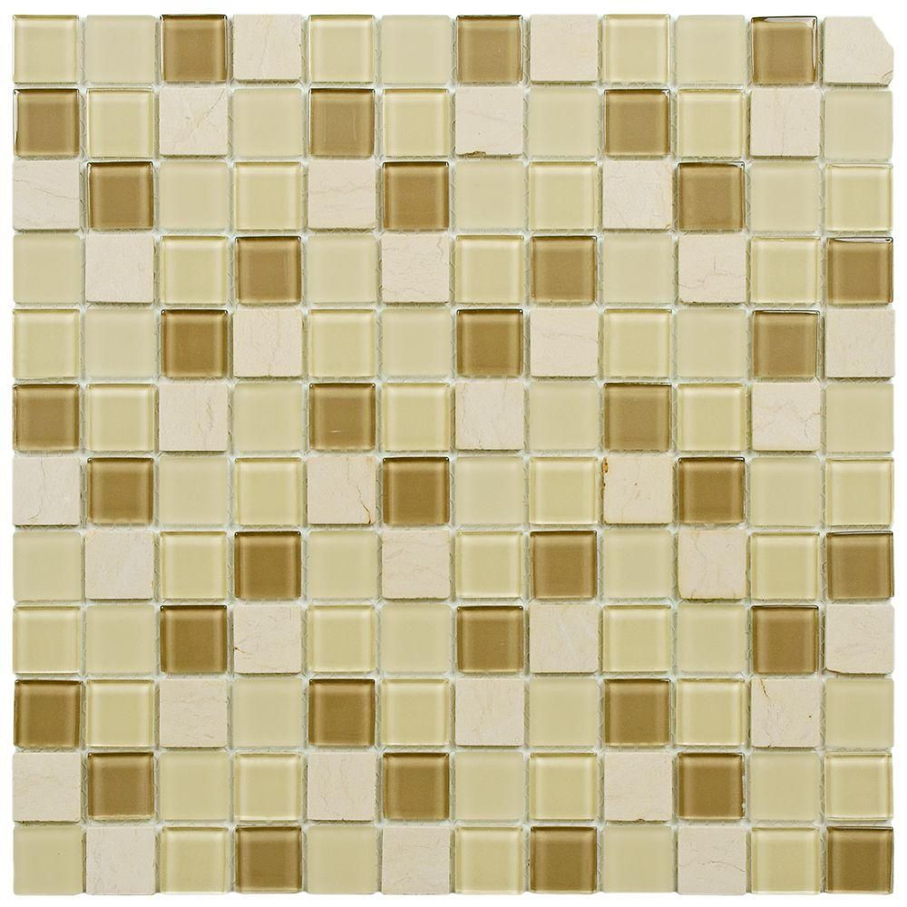 Merola Tile Spectrum Square Olea 11 3 4 In X 11 3 4 In X 4 Mm Glass And Stone Mosaic Tile Gshssqol Stone Mosaic Stone Mosaic Tile Mosaic Wall Tiles