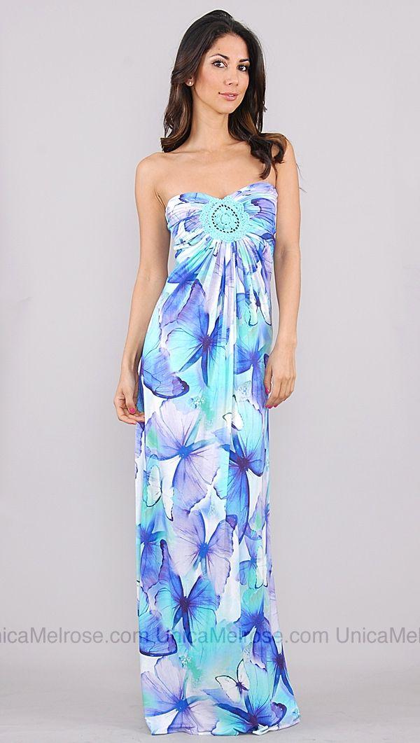 Sky Blue Mint Lolo Butterfly maxi dress.... I want.