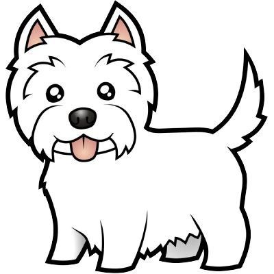 Cartoon westie rrruff day pinterest design caf for Westie coloring pages