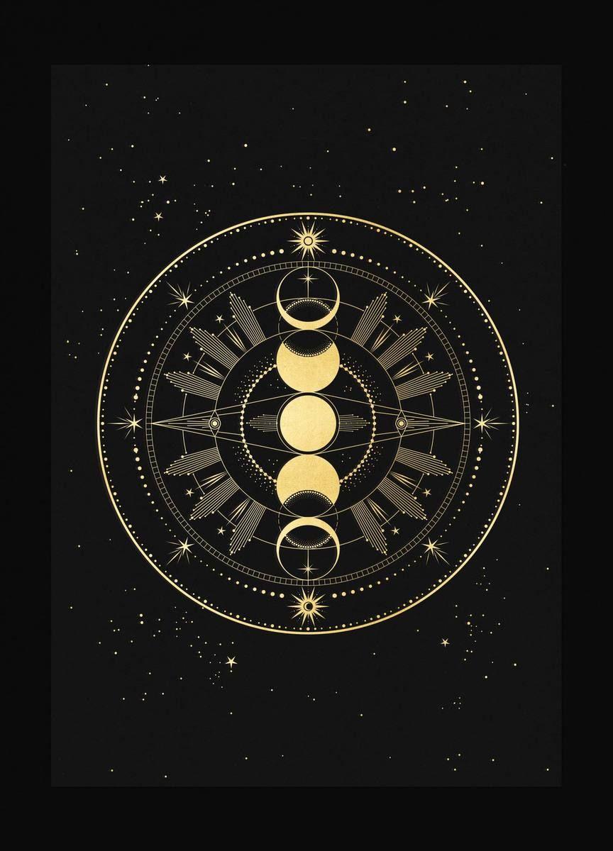 Moon Phase Totem Moon Symbols Moon Art Goddess Symbols