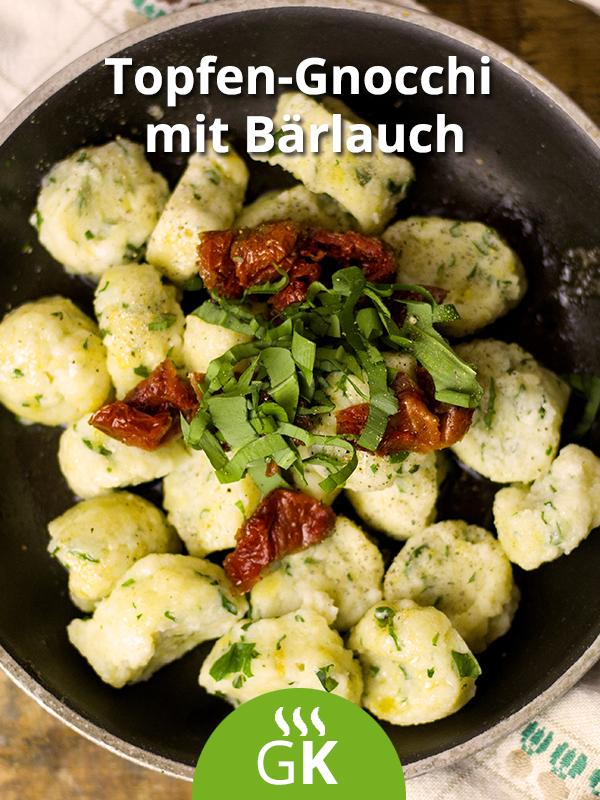 Topfen-Gnocchi mit Bärlauch