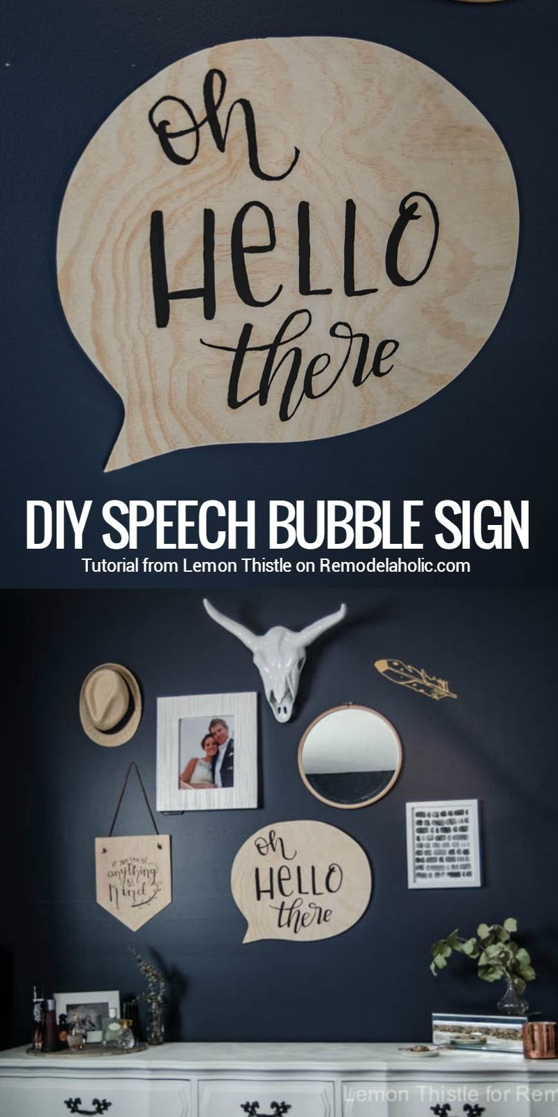 Oh Hello There Diy Speech Bubble Sign  Chalkboard Paint