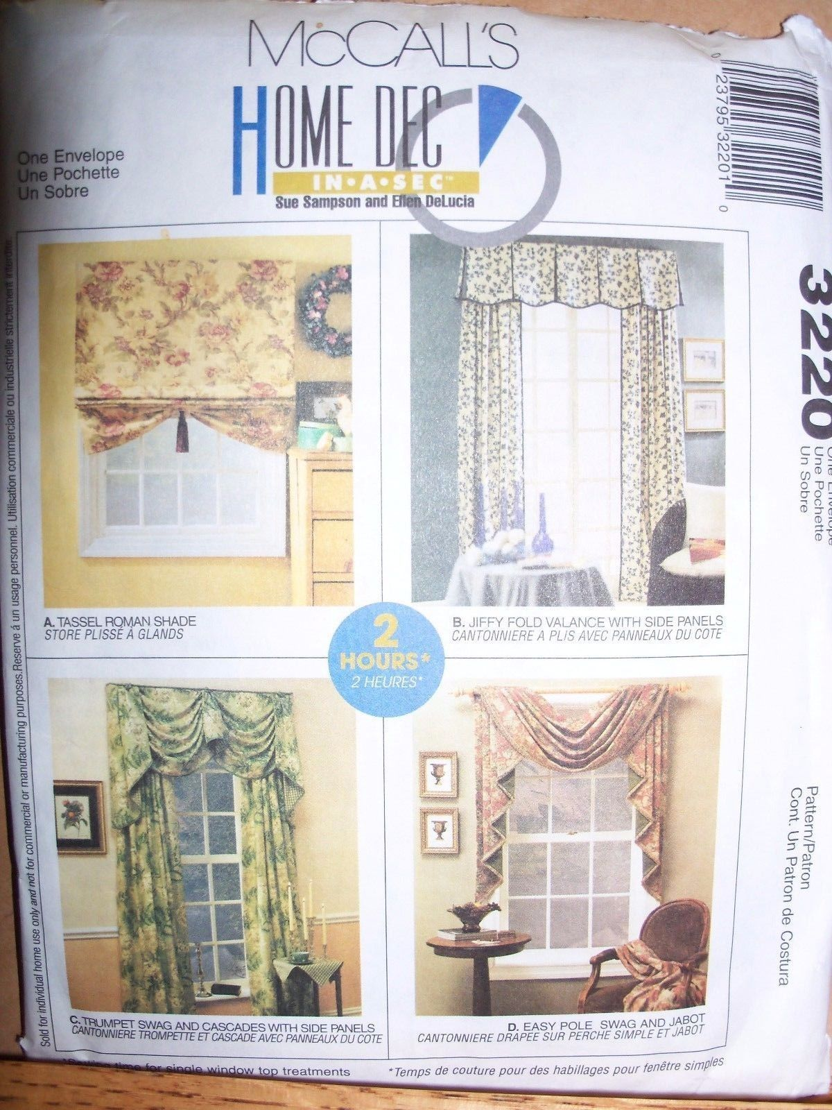 New Mccalls Curtains Pattern Home Decor Valance