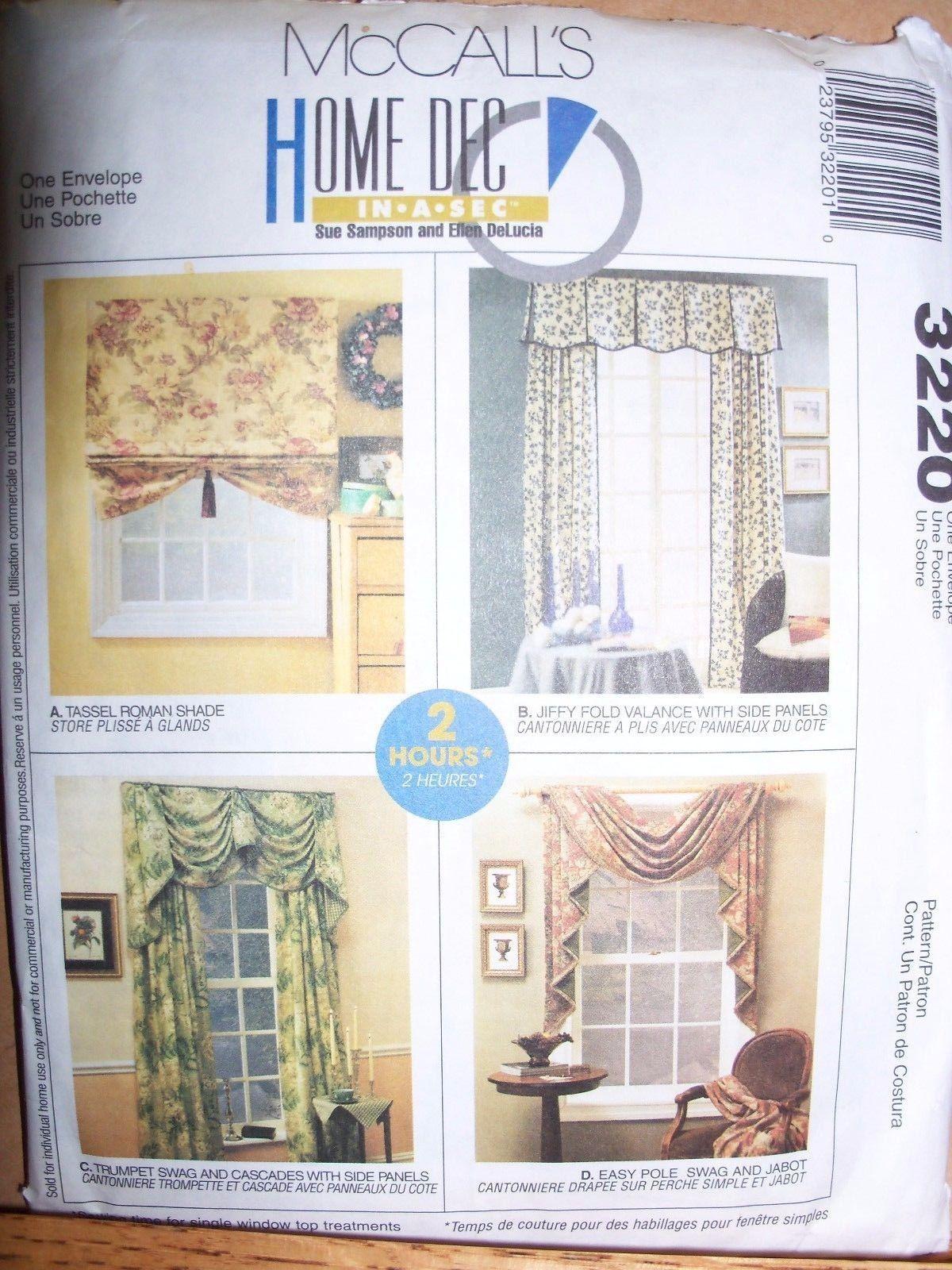 New Mccalls Curtains Pattern Home Decor Valance