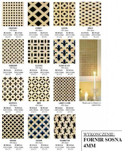 Panele Dekoracyjne Mdf Fornir Sosna Wood Cnc Fornir