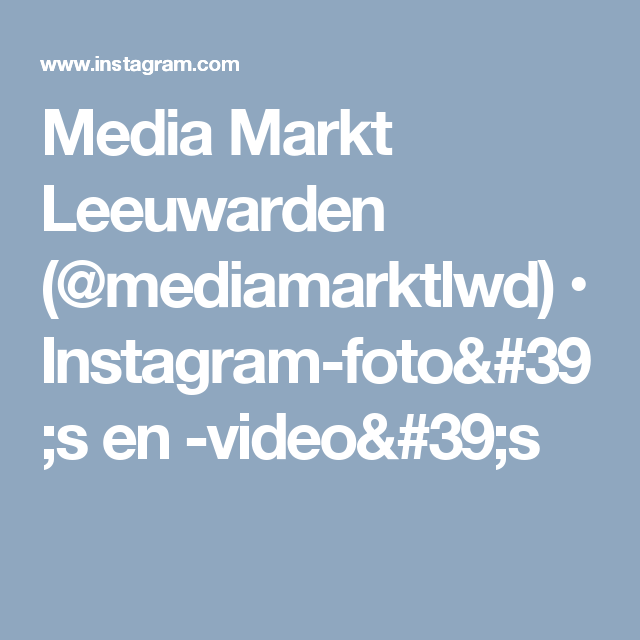 Media Markt Leeuwarden (@mediamarktlwd) • Instagram-foto's en -video's