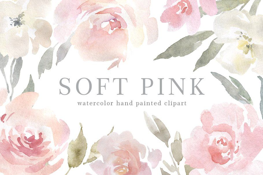 Blush Pink Watercolor Flowers Png Pink Watercolor Flower Pink Watercolor Floral Watercolor