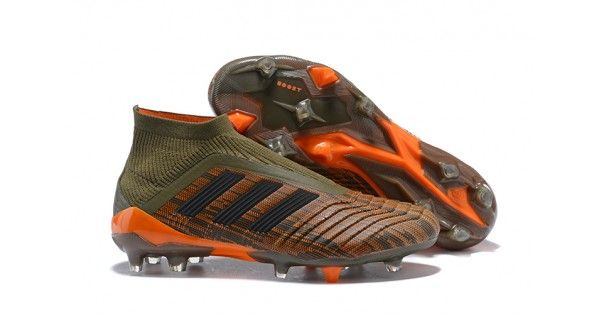 3c313a530 Buy Discount Adidas Predator 18 FG Football Boots Green Orange Black with  discount price in UK
