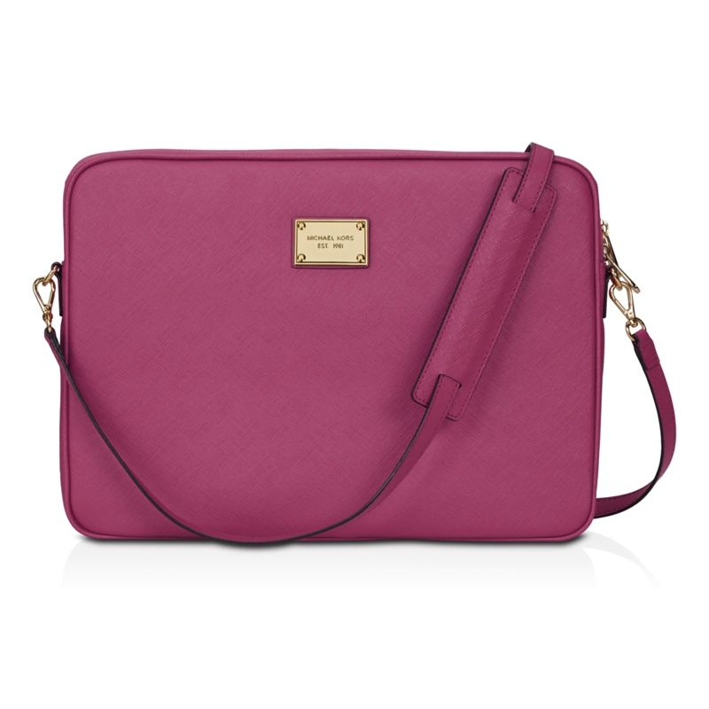 3a1fc8775ea2 Michael Kors Macbook pro laptop bag is light to carry…. and that pop of  colour is so much fun!