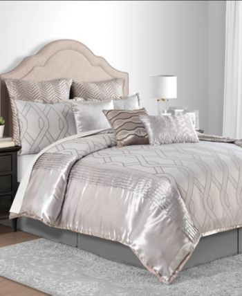 Sunham Winston Taupe California King 10 Pc Comforter Set Reviews Bed In A Bag Bed Bath Macy S Comforter Sets Bed In A Bag Taupe Bedroom
