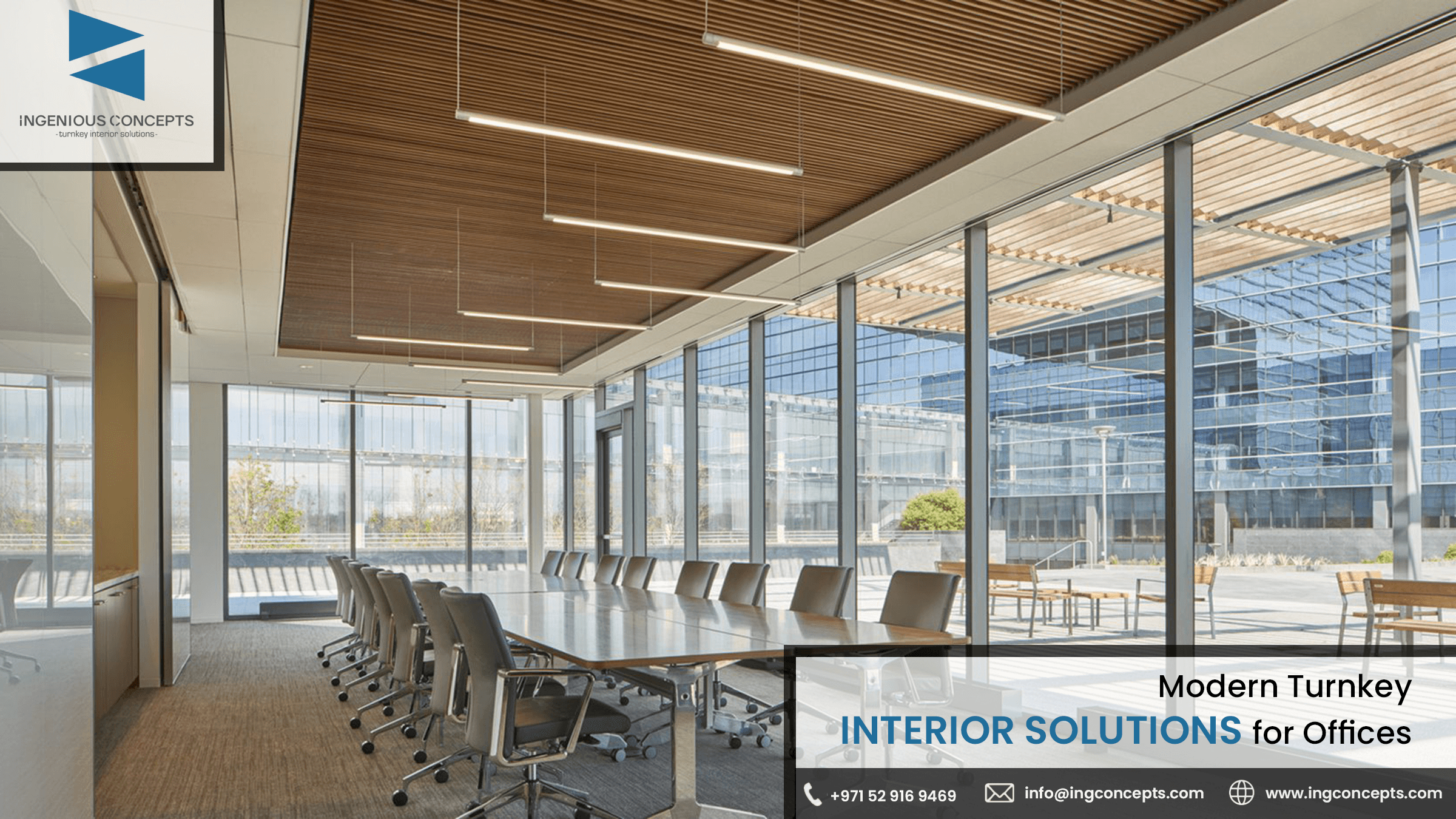 Modern Turnkey Interior Solutions for Offices in Dubai by