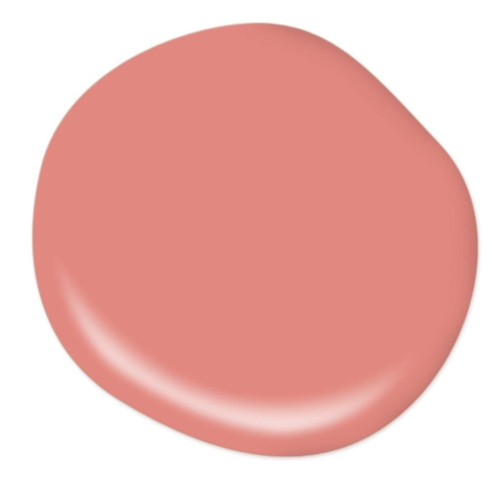 Behr Premium Plus 5 Gal Ppu1 04a Watermelon Punch Flat Low Odor Interior Paint And Primer In One 130005 The Home Depot Interior Paint Schemes Interior Paint Coral Paint Colors