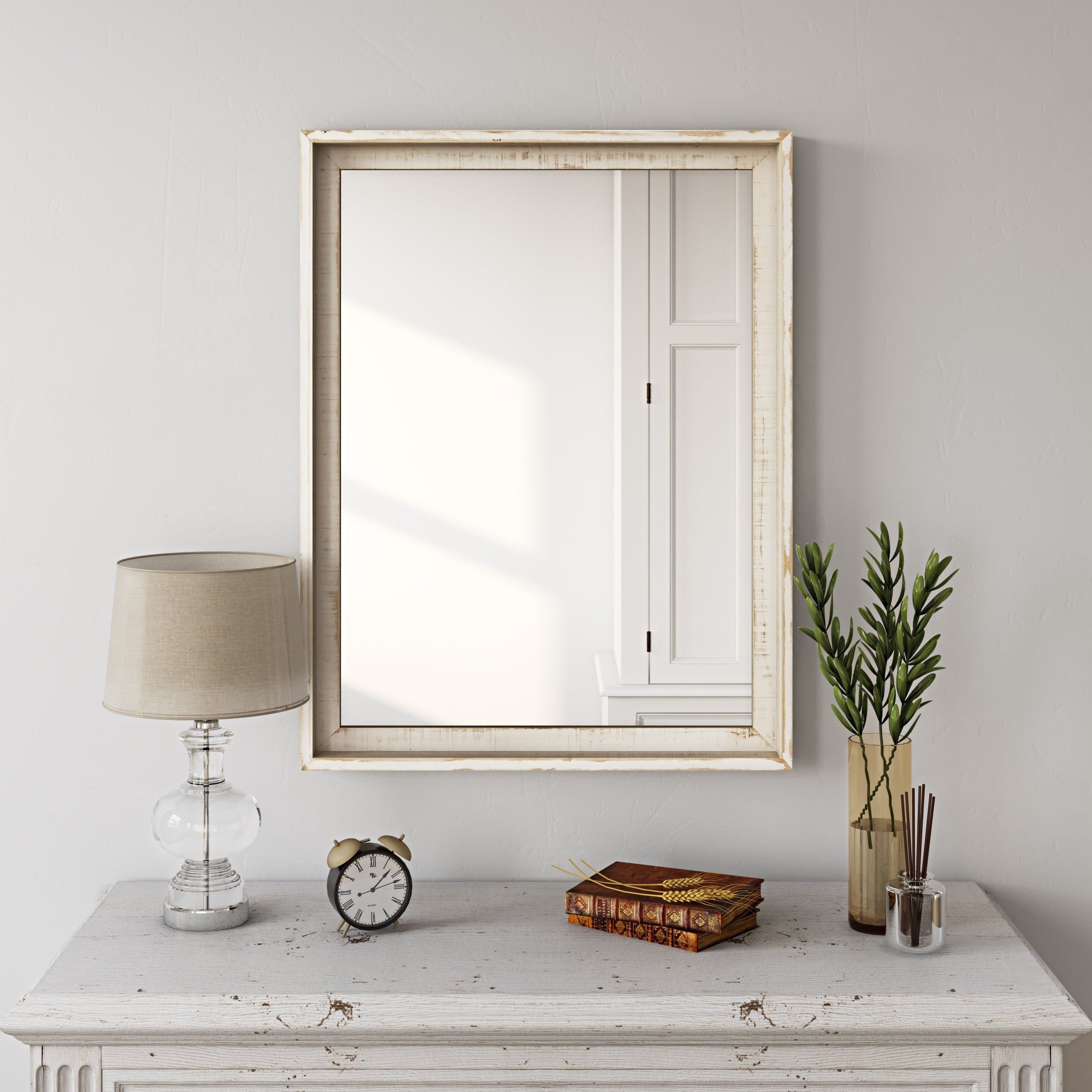 Overstock Com Online Shopping Bedding Furniture Electronics Jewelry Clothing More Farmhouse Wall Mirrors Mirror Wall Bedroom Wood Wall Mirror [ 2500 x 2500 Pixel ]