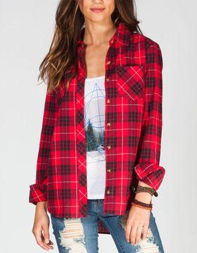 17e8d5c8cde FULL TILT Womens Flannel Shirt on shopstyle.com