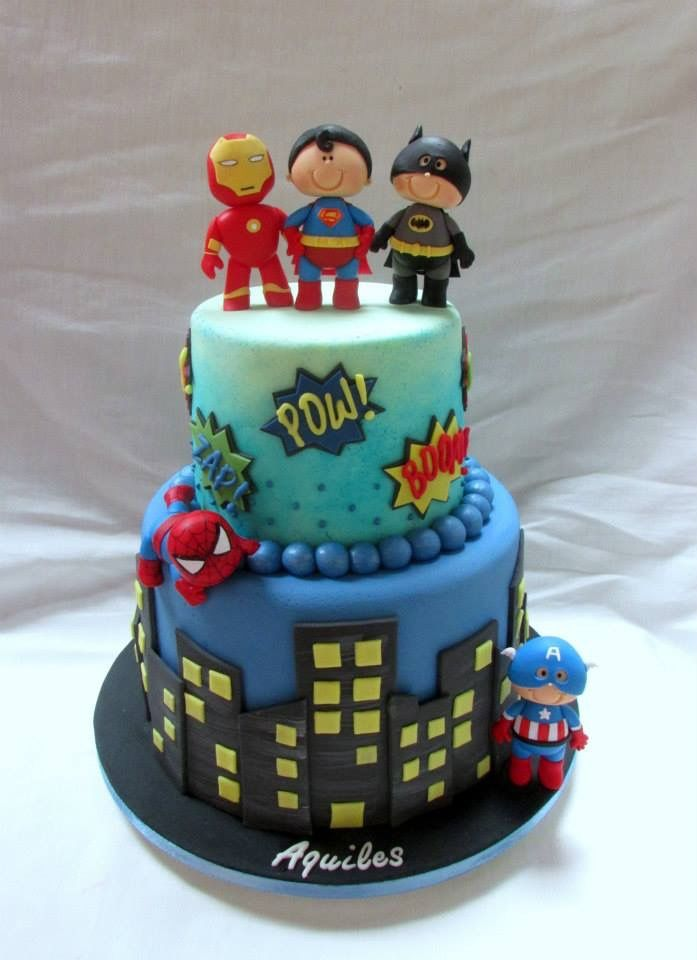Justice League Vs Marvel Avengers Birthday Cakes Superhero