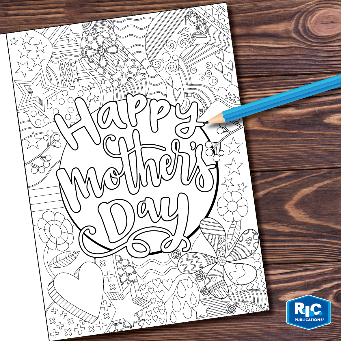 Mother S Day Card Templates Free Download Upper Primary Zentangle Style Mothers Day Card Template Mothers Day Coloring Cards Card Templates