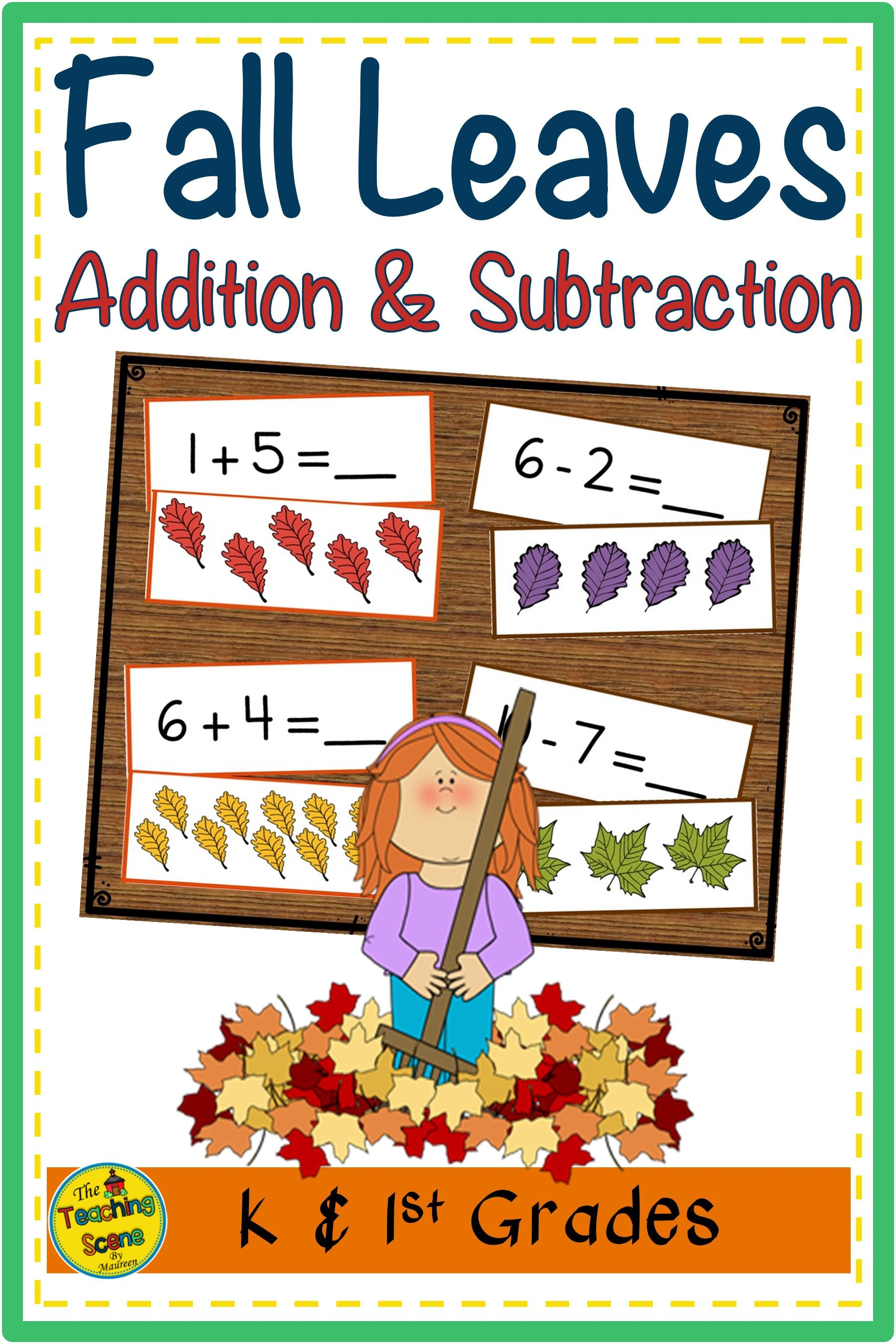 Fall Leaves Addition Amp Subtraction 0 10 Facts Match Game