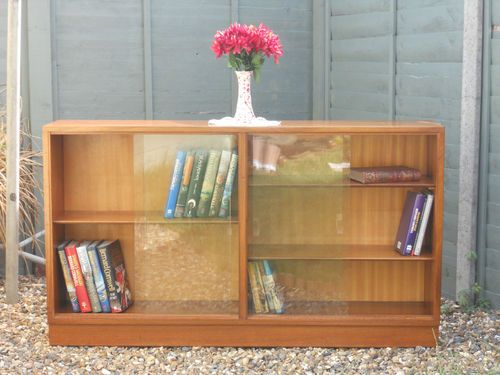 Retro 1950 S Brae Gl Fronted Bookcase By Morris Of Glasgow