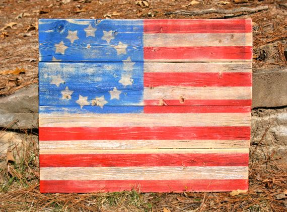 Rustic Wooden Betsy Ross American Flag by HBBeanstalk on Etsy, $75.00