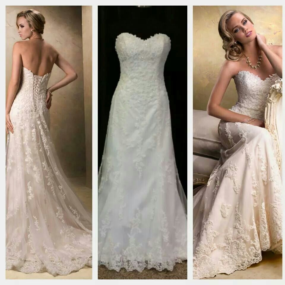 Wow Wednesday Is Emma By Maggie Sottero With An Eye To Timeless Romance This Slim A Line Design Features A Delicate Wedding Dresses Dresses Wedding Attire