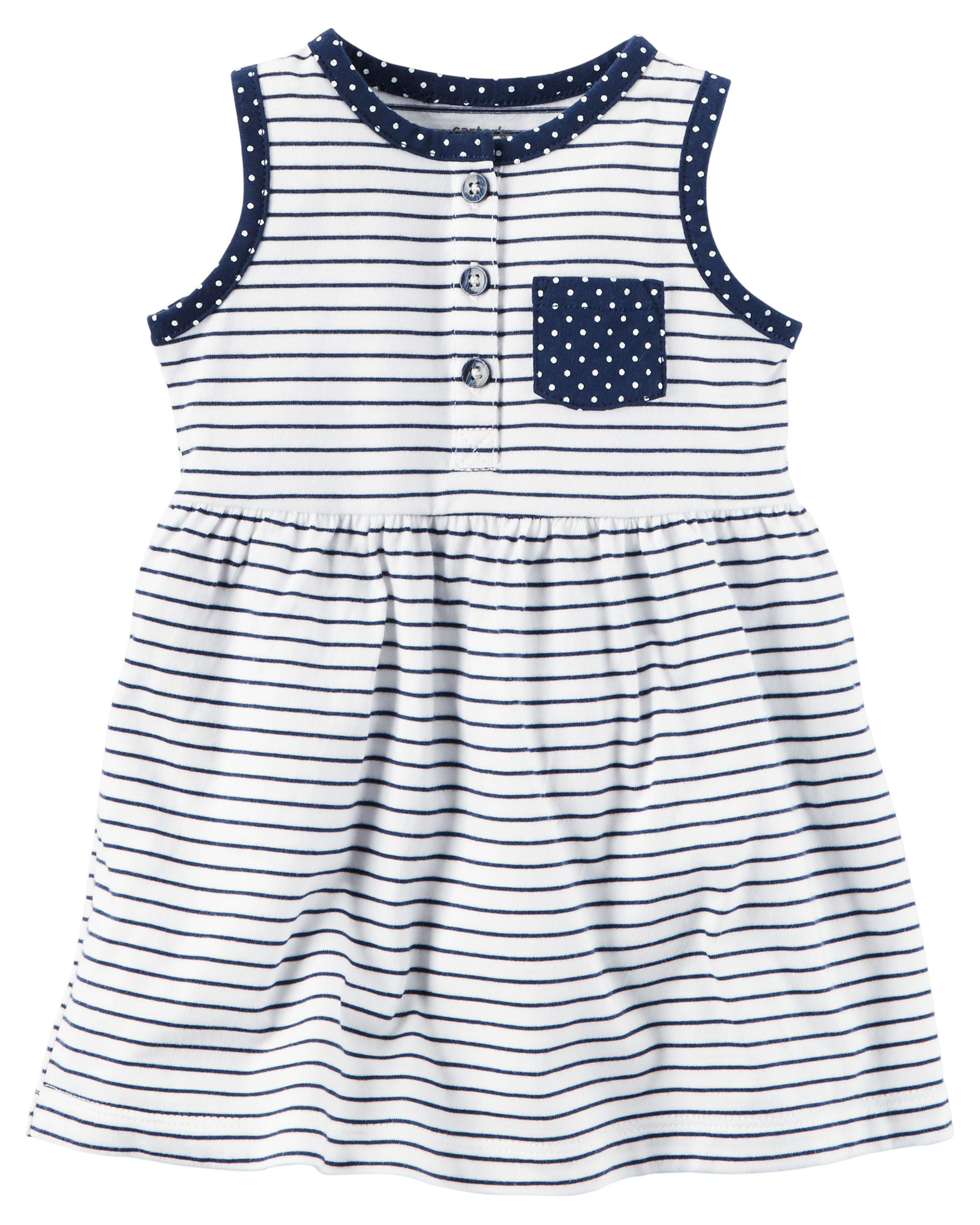 419bfebca Baby Girl Striped Jersey Dress from Carters.com. Shop clothing &  accessories from a trusted name in kids, toddlers, and baby clothes.