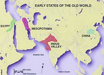 Early River Valley Civilizations Map Early river based cultures: on the Nile, in Mesopotamia, on the