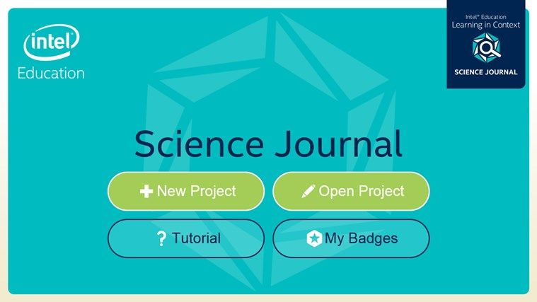 New App from Intel Education Learning in Context Science Journal - best of blueprint generator app