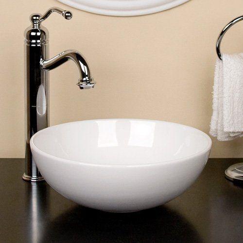 11 Wide 4 5 Deep Kiernan Petite Vessel Sink White Http Www Amazon Com Dp B003xvwja2 Ref Cm Sw R Pi Awd Vessel Sink Bathroom Vessel Sink Bathroom Sink