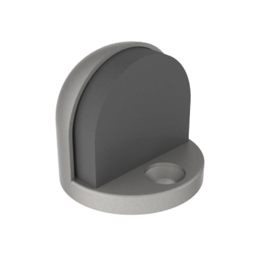 Hager Satin Stainless Dome Style Floor Stop And Grey Rubber Bumper Ae 242fus26d The Home Depot Rubber Bumper Flooring The Home Depot