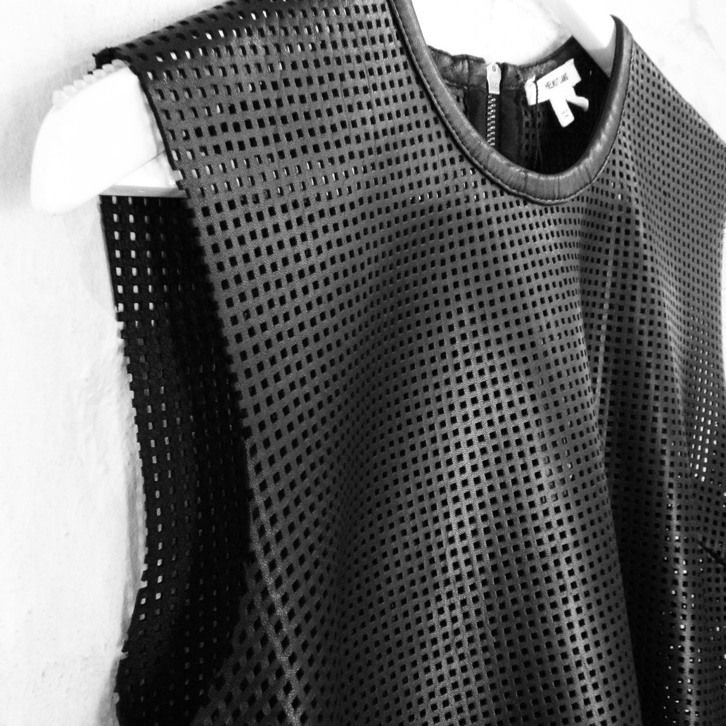 Helmut Lang perforated leather top