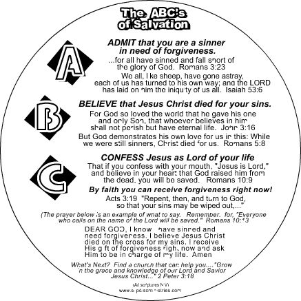 GOD'S SIMPLE PLAN OF SALVATION - FREE KJV Bible Studies
