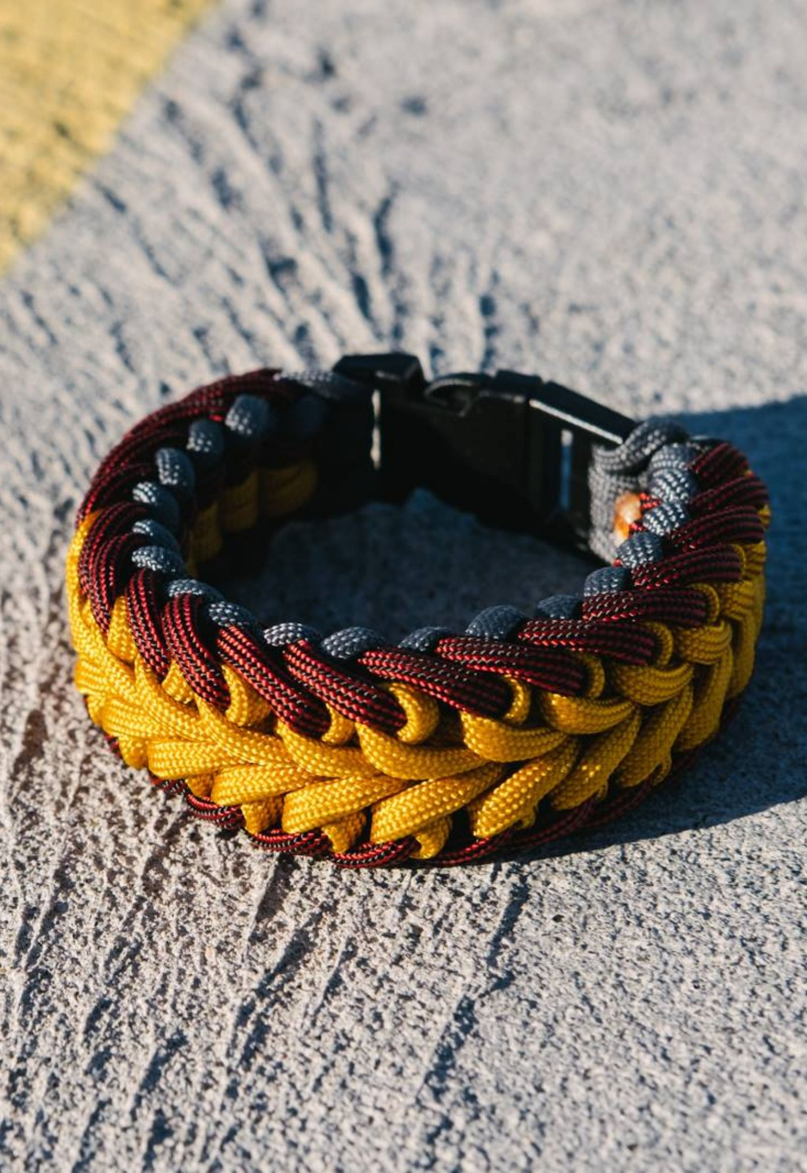 The Swirl Paracord Bracelet Looks Best With A Lighter Color In The