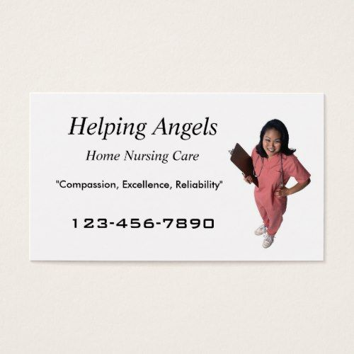 Home nursing business card home health aide pinterest business home nursing business card colourmoves