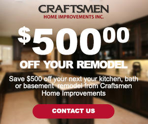 Contact Craftsmen Home Improvements Inc To Find Out How You Can Save 500 Off Your Next Home Remodel Project Home Improvement Remodel Home Remodeling