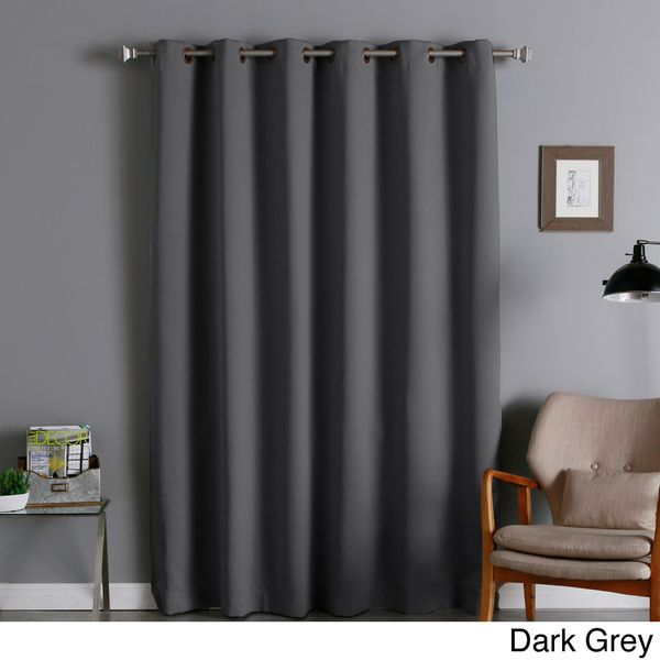 80 inch curtains curtain panel aurora home wide thermal 80inch width blackout curtain panel nyc