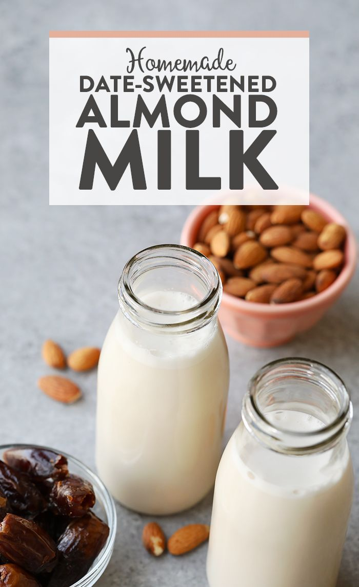 Making Homemade Sweetened Almond Milk Is Easier Than You Think All Need Are Almonds Vanilla Bean Dates And A Nut Bag To Make Vegan