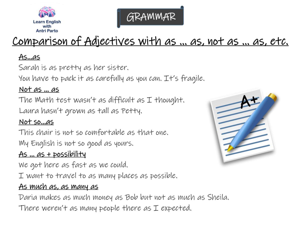As An Adjective Sentences