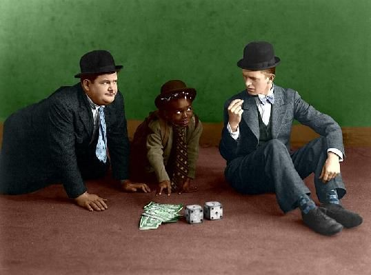 Laurel & Hardy - Color Print , Free Shipping | Great Photos & Prints ...