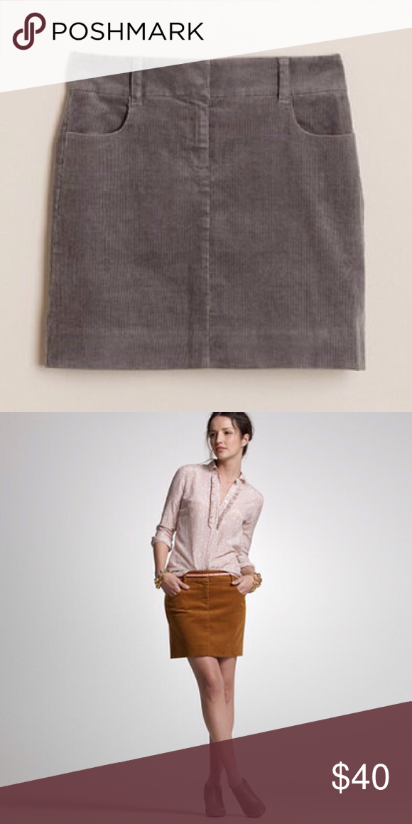 be51f75df NWOT J.Crew Grey Corduroy Mini NWOT J.Crew 'vintage cord co-ed mini' -  graphite. Size 6. No rips, tears, stains. No Trades! *more pics to come.