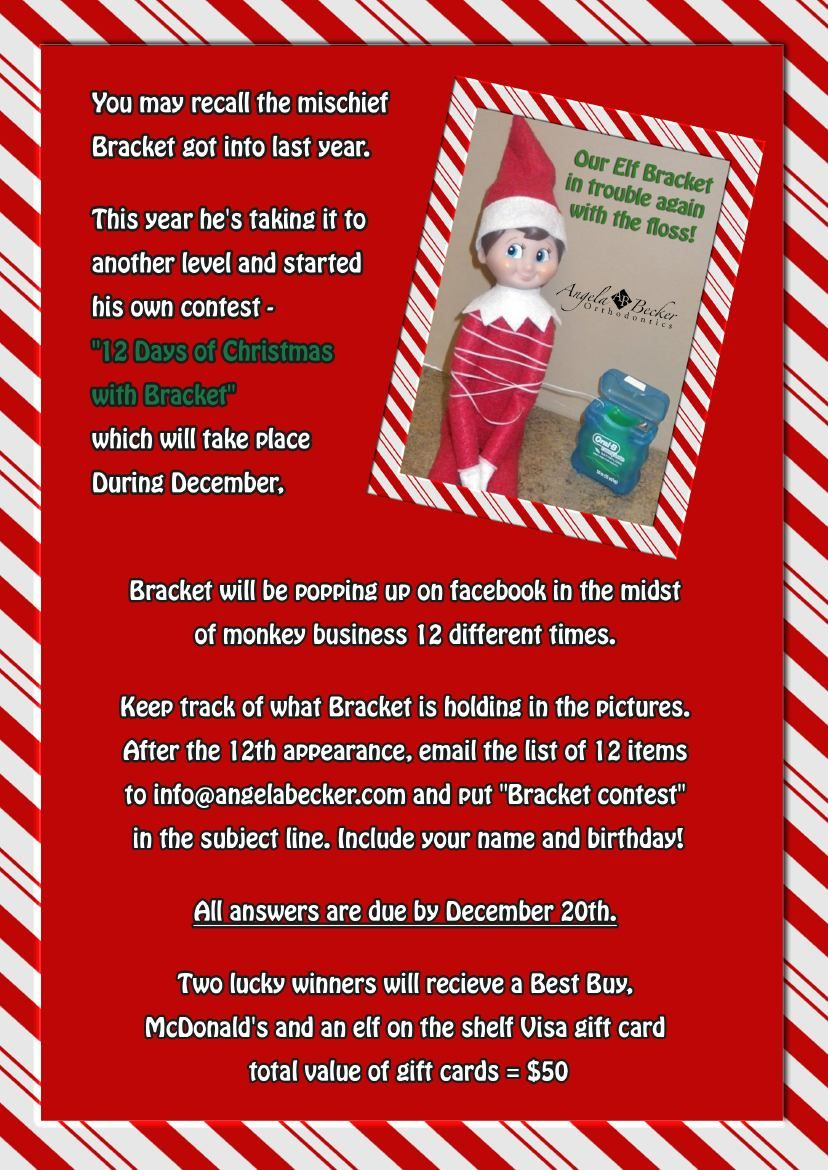 angela becker orthodontics – our elf on the shelf contests | fun