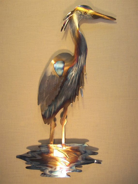 for susan bradley only please great blue heron stainless steel