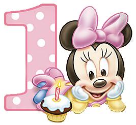 Imprimibles e imgenes de Minnie primer ao 13  numeros