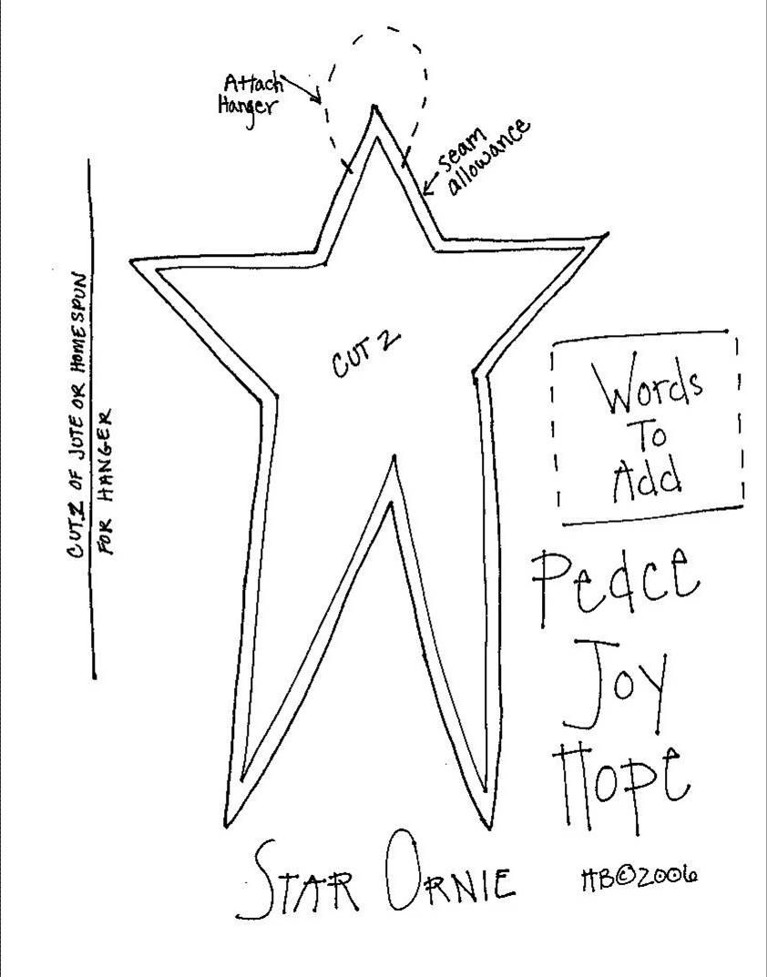 Free Printable Primitive Star Template  Invitation Templates