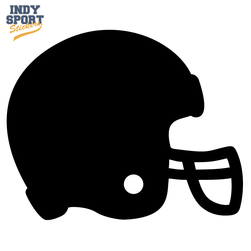 Football Helmet Silhouette Car Stickers And Decals Football Helmets Football Decal Football Helmet Design