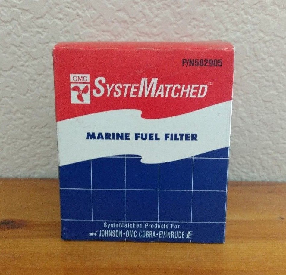 Omc Marine Fuel Filter P N502905 Johnson Cobra Evinrude System Matched