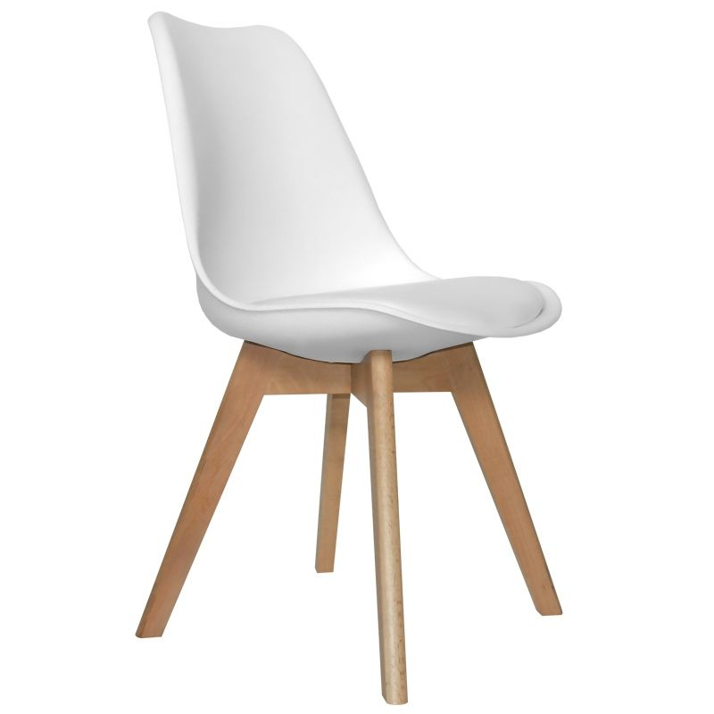 Silla new tower wood blanca 53 70 muebles de estilo - Sillas de comedor precios ...
