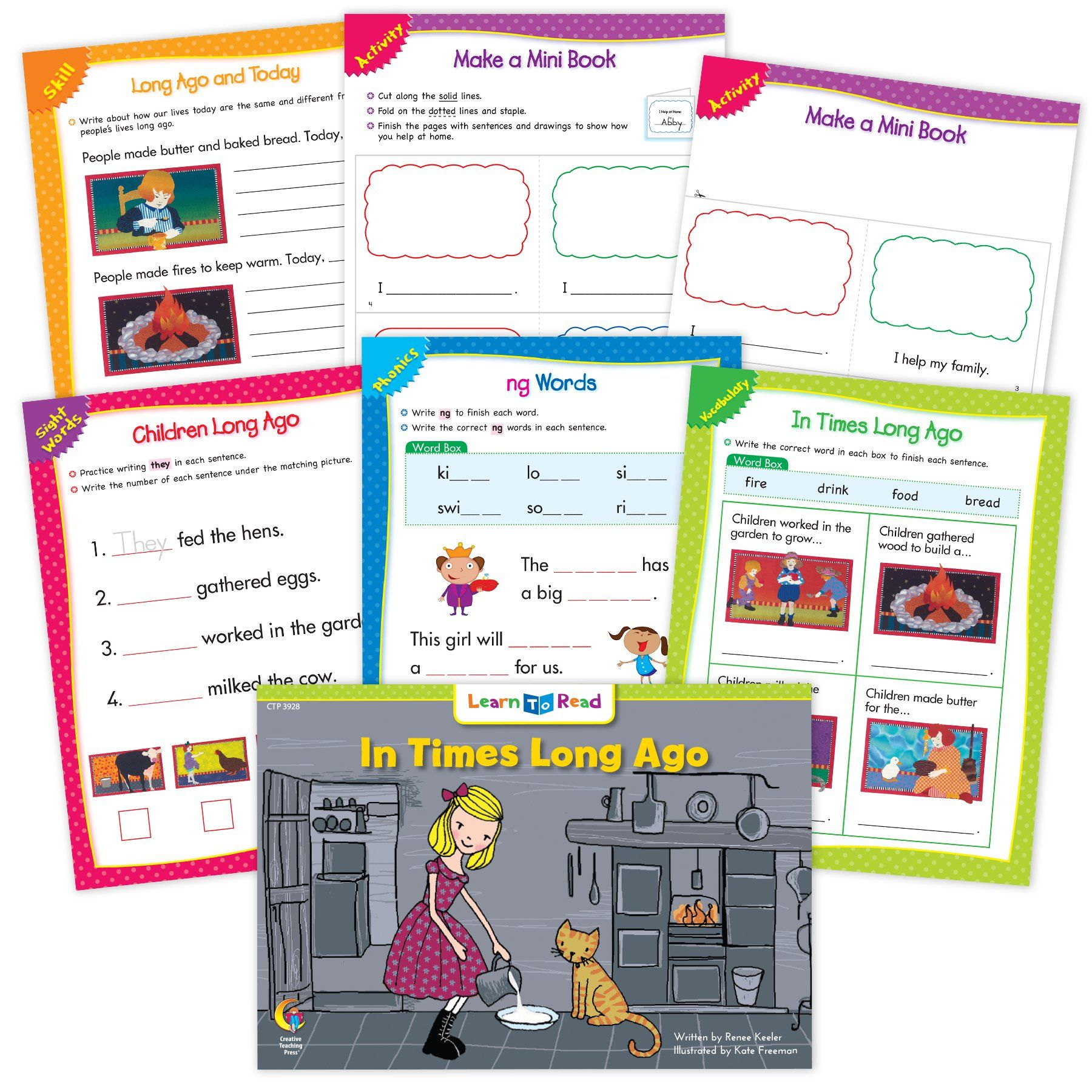 In Times Long Ago Ebook Amp Worksheets In